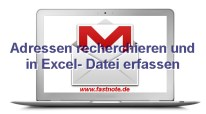 Adressen recherchieren und in Excel- Datei erfassen