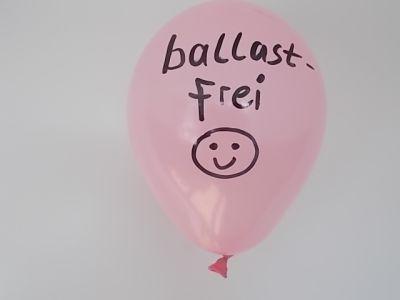 Luftballon rosa mit Schrift ballastfrei zu Webtexte