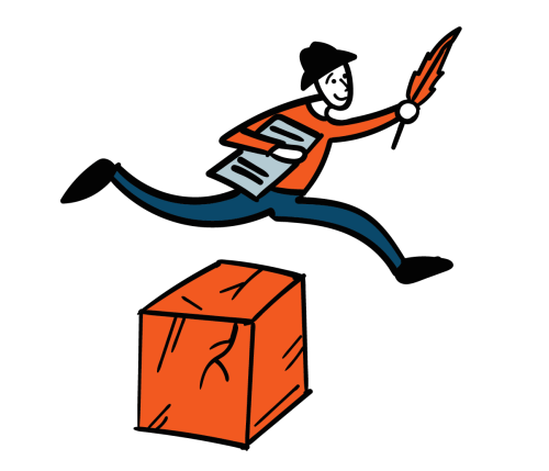 Er springt