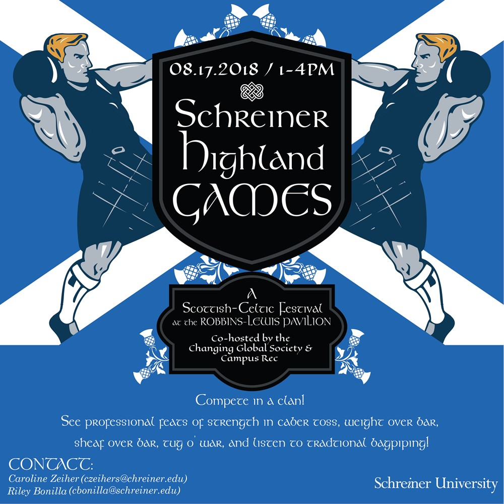Schreiner Demos Scottish Highland Games on Campus