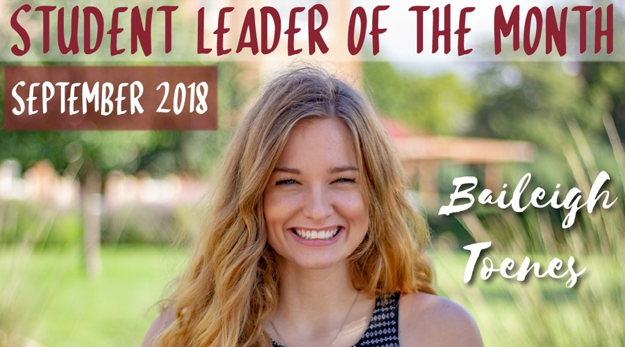 Student of the Month - Baileigh Toenes