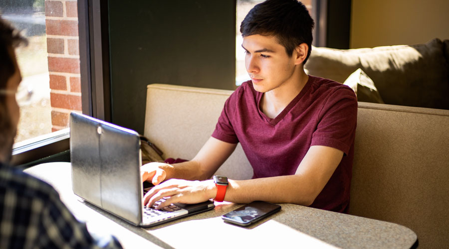 Master of Education - Student Working Online
