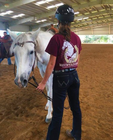 Schreiner University Equestrian Program White Horse
