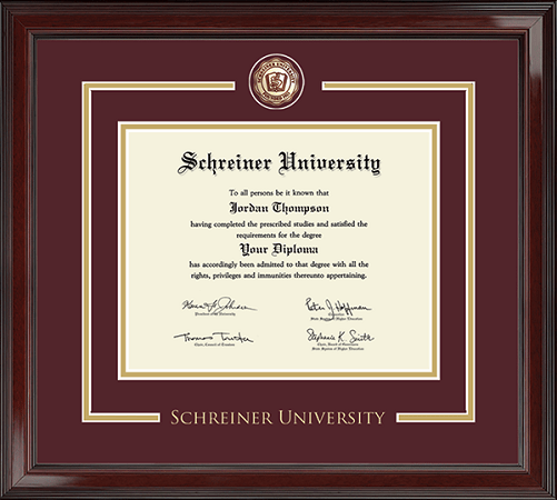 Showcase Edition Diploma Frame in Encore with Maroon/Gold mats