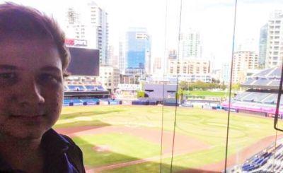 Eric D. at Baseball Game