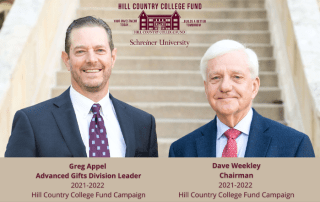 Dave Weekley is Chairman for the 2021-2022 Hill Country College Fund Campaign