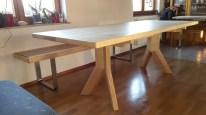 Sitzbank VARIMO Esche + Tisch mit Y-Fuß (4)