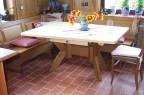 Tisch konisch mit Kreuzfußgestell + Schublade