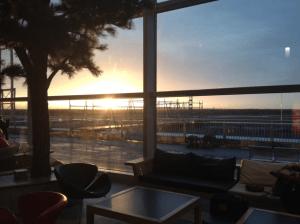 Sonnenaufgang am Frankfurter-Flughafen