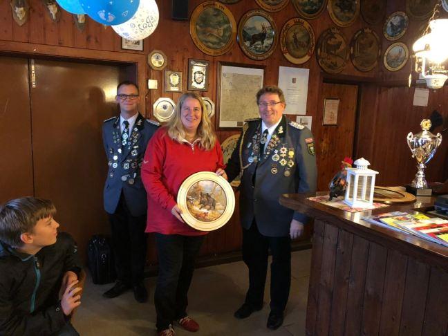 Sieger der Damen-Ehrenscheibe beim Abschießen 2018: Petra Bruhn