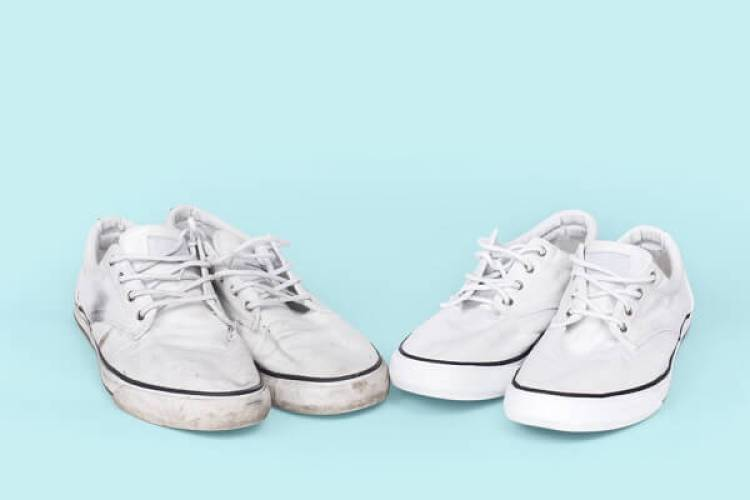 Weiße Schuhe pflegen