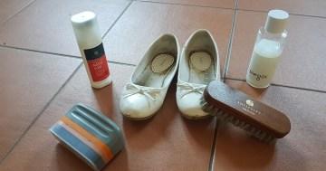Weiße Schuhe waschen