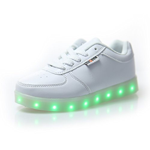 DoGeek LED Light Up Trainers - Men Women Low Top LED Shoes - USB Charge 7 Colors Light Sneakers…