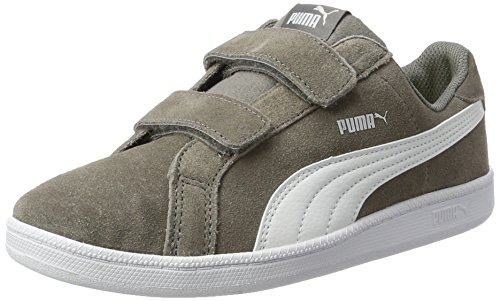 Puma Unisex-Kinder Smash Funsd V PS Sneaker, Grau (Steel Gray-White), 35 EU