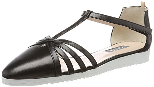 SJP by Sarah Jessica Parker Damen Meteor Sandalen, Schwarz (Black Leather), 41 EU