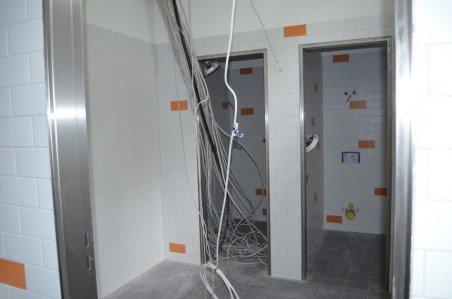 Eine eigene Toilette und eine Dusche stehen demnächst dem Küchenpesonal zur Verfügung.