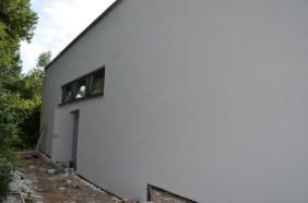 Die Fassade auf der Rückseite der neuen Mensaküche ist schon fertig!