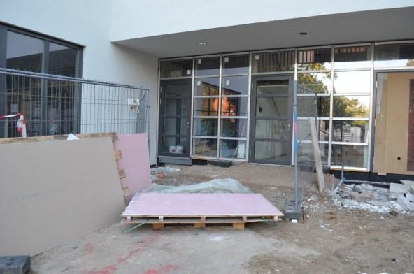 Noch ist hier eindeutig eine Baustelle zu erkennen. Zäune und Baumüll sind bereits weg.
