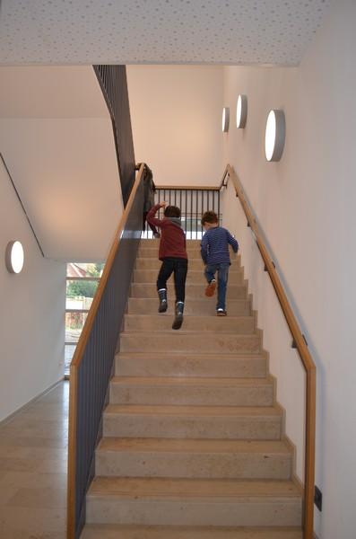 Im neuen Treppenhaus