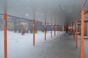 Der Schulhof bei Schnee!