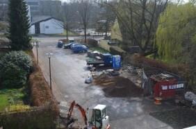 Die Zufahrt wird in einem späteren Bauabschnitt erneuert!