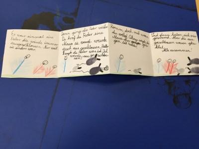 In den 2. Klassen wurden phantasievolle Geschichten geschrieben...