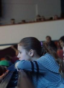 Unsere Schüler hören gespannt zu.