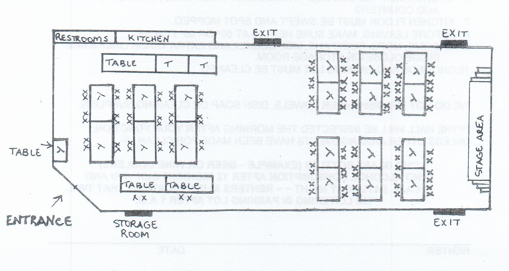Civic Center Layout Diagram