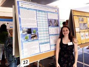 Nicole at the Summer undergraduate research programme 2015