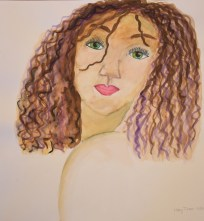 Haley watercolor portrait