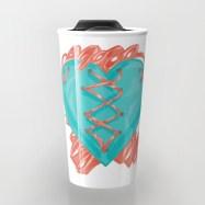 Ribbon Heart Travel Mug Preview