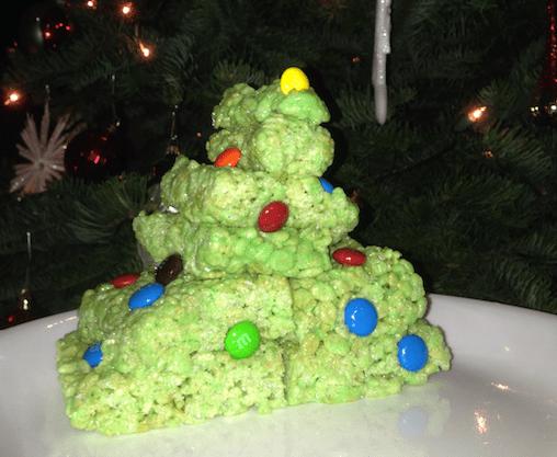 Christmas Tree rice krispie