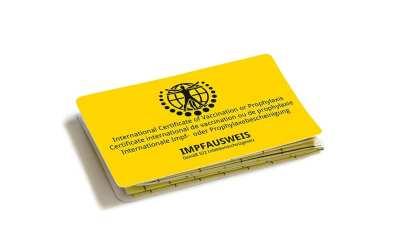 Neues Produkt: Der neue internationale Impfausweis im Scheckkartenformat