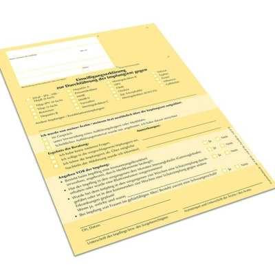 Einwilligungserklärung Impfungen DIN A5 Einzelblatt