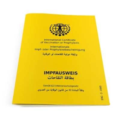 Internationaler Impfausweis Klassik Deutsch-Englisch-Arabisch