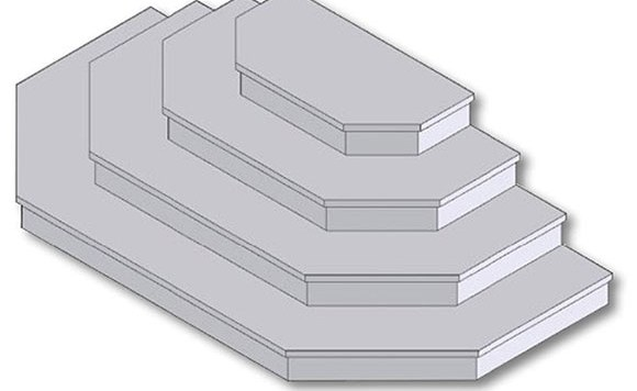 Stacking Steps Half Round Steps Hex Steps Schut S | Building Half Round Wood Steps | Curved | Precast Concrete Steps | Outdoor | Concrete Slab | Risers
