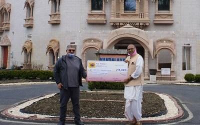 VRAJ Hindu Temple makes $11,001 Donation