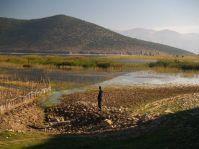 Výrazný ponor Prespanského jazera
