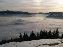 Ružomberok v hmle Foto: Juraj Szunyog