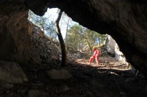 Priepasťová vrchná časť tunela
