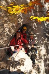 Vchod do Karfiolovej jaskyne je 7 m nad zemou