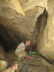 vstup do komína na 3.poschodie jaskyne