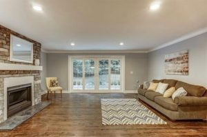 Renovated Family Room with Fireplace