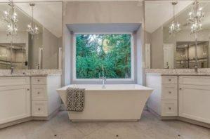 Renovated Master Bath with Soaking Tub