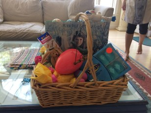 my easter basket thanks to the Freedmans!