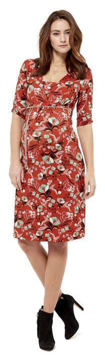 farbenfrohes, gemustertes Kleid von Queen Mum