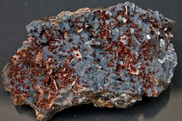 Wulfenite with Quartz Druse, Vanadinite, and Calcite - Schwartz Fine Minerals
