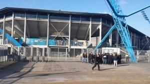 Vor dem Ostseestadion