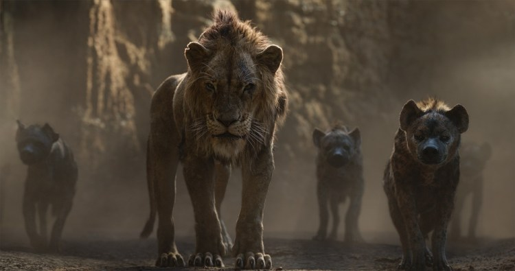 "THE LION KING - Featuring the voices of Florence Kasumba, Eric André and Keegan-Michael Key as the hyenas, and Chiwetel Ejiofor as Scar, Disney's ""The Lion King"" is directed by Jon Favreau. In theaters July 19, 2019. © 2019 Disney Enterprises, Inc. All Rights Reserved."