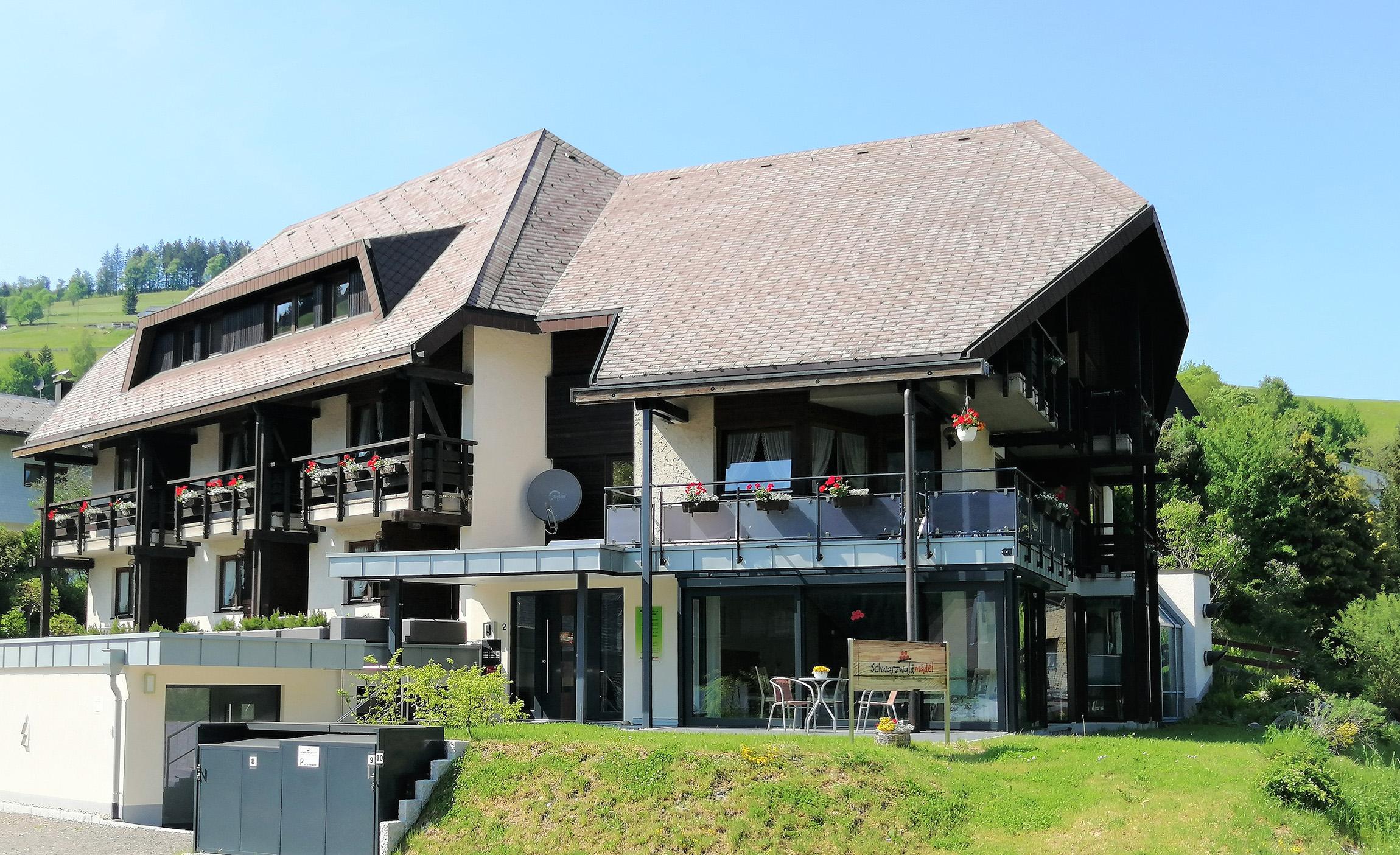 Ferienwohnung im Schwarzwald Frontalansicht Haus